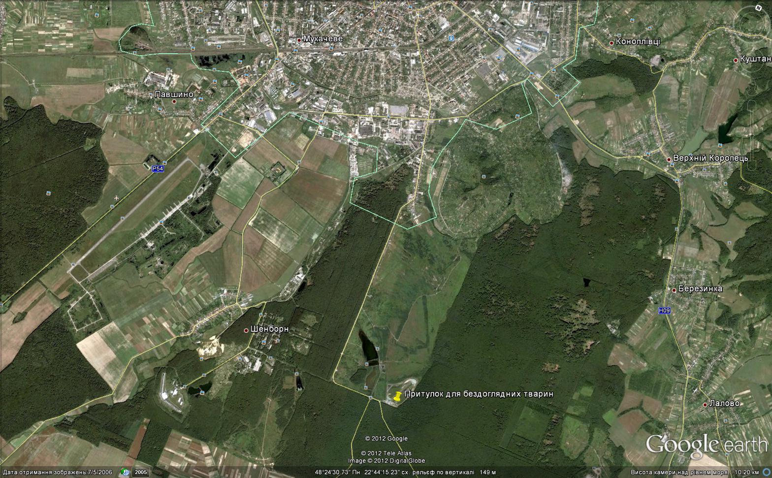 Мукачівський міський комунальний притулок для бездоглядних тварин %D0%BA%D0%B0%D1%80%D1%82%D0%B0(1)